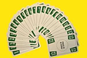 24 grüne Phase 10 Karten
