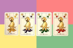 Kombination Hund und Farben